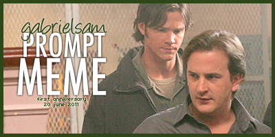 Sam staring at the back of Gabriel's neck | Prompt Meme: 20 june 2011